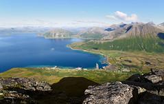 View east from Tromtinden (Tromsø, Norway)
