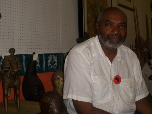Abayomi Azikiwe, editor of the Pan-African News Wire, at the Shrine of the Black Madonna Cultural Center and Bookstore on July 16, 2011. He spoke at the conference on preemptive prosecution. (Photo: Andrea Egypt) by Pan-African News Wire File Photos