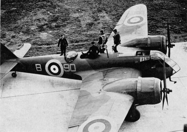 Bristol 142M Blenheim Mk I K7037 No. 90 Sqd. 1938