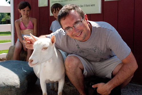 Mike and a goat