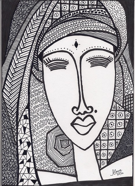 Portraits In Zentangle Style A Gallery On Flickr