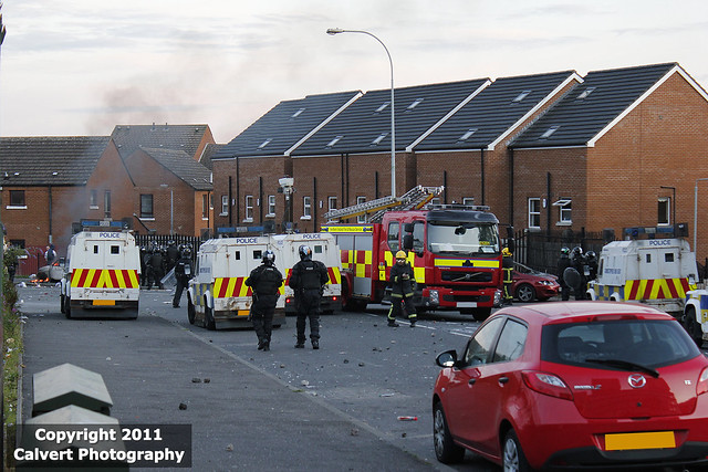 PSNI / Land Rover Tangi / Belfast Riots, July 12th 2011