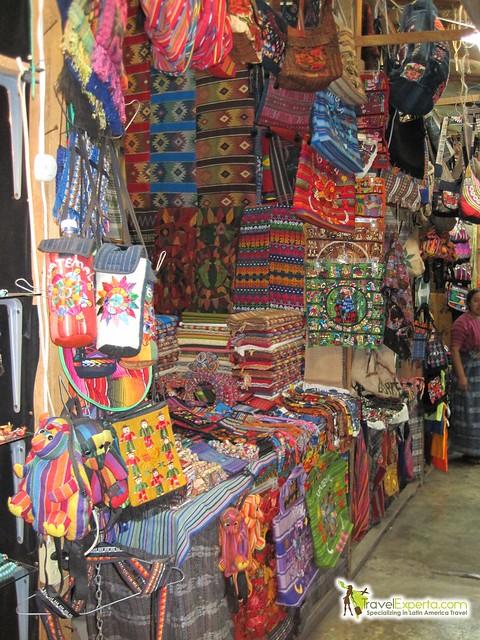 Artisan market in Antigua, Guatemala