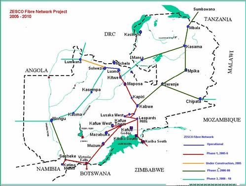 Zambia - Zesco Fibre Network