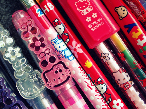 Hello Kitty Pens Collection Macro