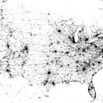 Contiguous United States geotag map (2009)