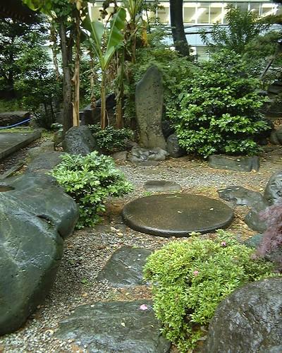 Basho haiku stone in Minami-Mido Temple, Osaka