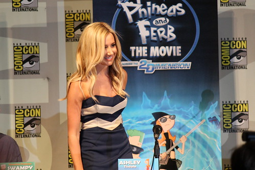 Ashley Tisdale at the Phineas and Ferb panel at Comic-Con 2011