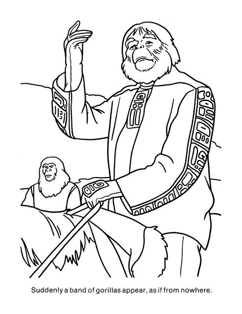Planet of the Apes Coloring Book 0200023