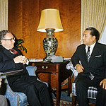 Buddist Leader Daisaku Ikeda together with Henry Kissinger (1975)