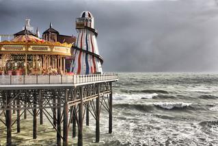 Brighton Pier Before A Storm