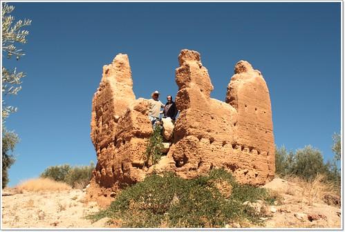 Pepe e Hilario en la torre de Baldomar Cijuela