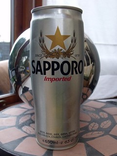 Sapporo, Imported Premium Beer, Japan (brewed in Canada)