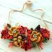 Fall Harvest Bib Necklace in Crochet by meekssandygirl