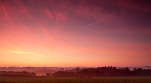 mist castle clouds sunrise landscape dawn raglan monmouhshire