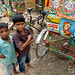 Boys and Bicycle Rickshaw - Outside Srimongal, Bangladesh