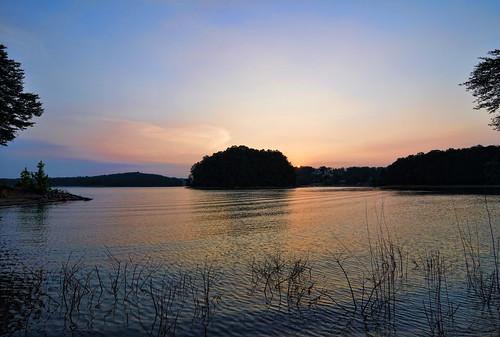 sunset sky sun lake reflection nature water silhouette clouds georgia landscape outdoors evening nikon cove south tokina cumming lakelanier baldridge d90 1116mm atx116prodx baldridgecreek