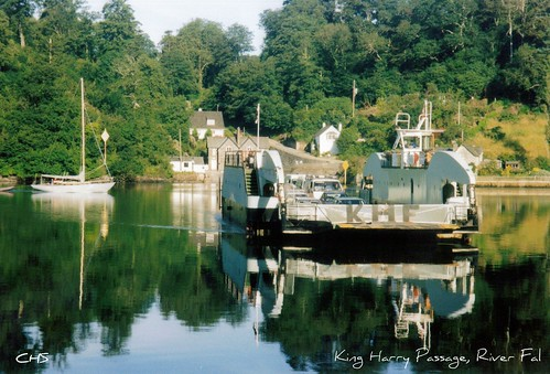 The old King Harry Ferry - taken in 2001, River Fal by Stocker Images