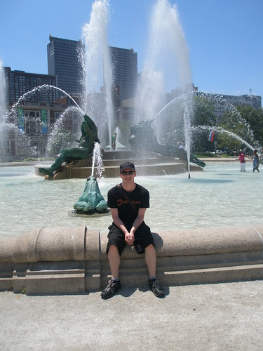 Phil at the Swann Memorial Fountain