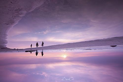 sunset sea people reflection coast twilight baltic waking lithuania lietuva margenta sigma1020mmf456exdchsm karkle canoneos50d blinkagain bestofblinkwinners hitechreversendgradfilter cokinflwfilter