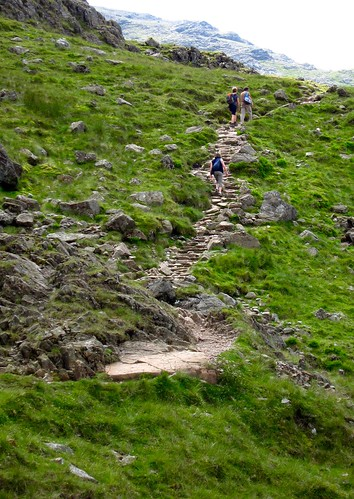 hiking up scafell pike