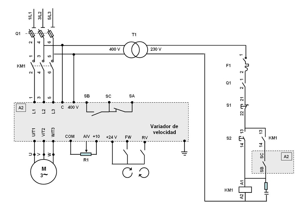 Circuito Variador De Frecuencia : Slmrf cont r control de un motor por contactor y