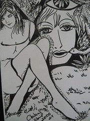 Um de meus desenhos que ilustrou Estalo, a revista, vol.4.Belo Horizonte, MG.