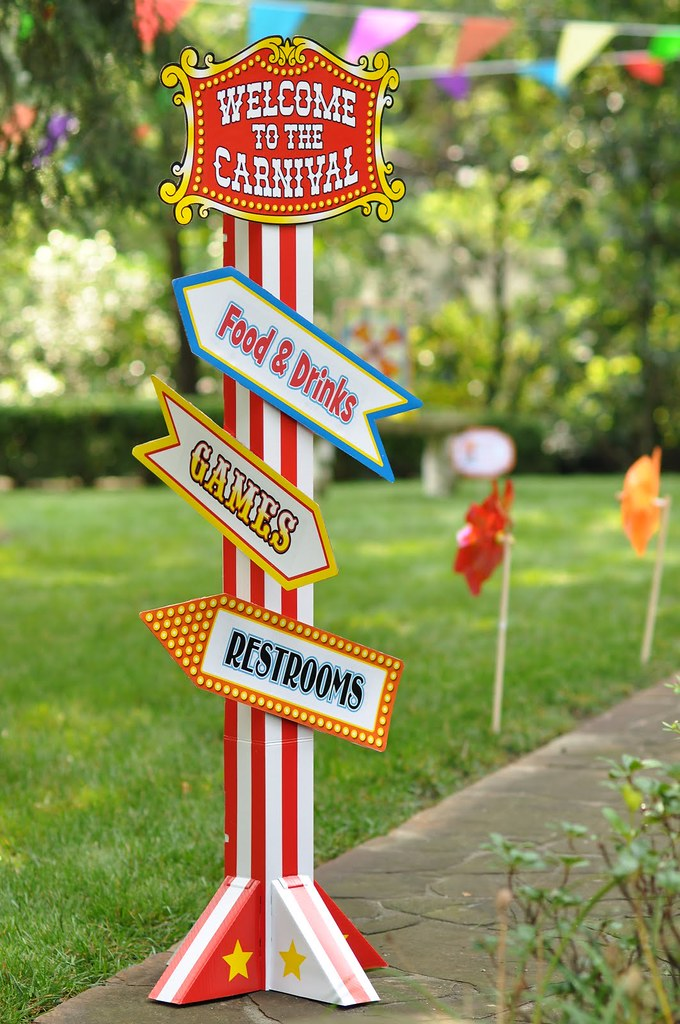 Circus Carnival Birthday Party Games Sign Amy S Party Ideas Flickr