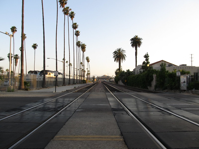 Train Tracks, Downtown Riverside, California