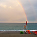 Rainbows over Pietra Ligure beach...