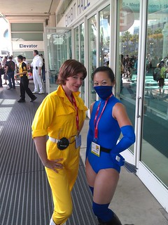 April O'Neil and kitana