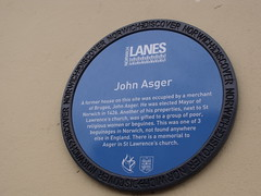 Photo of John Asger blue plaque