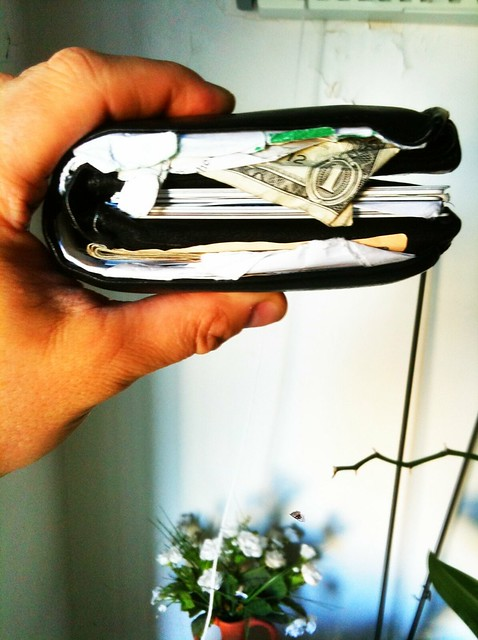 fat wallet with not a lot of money in it