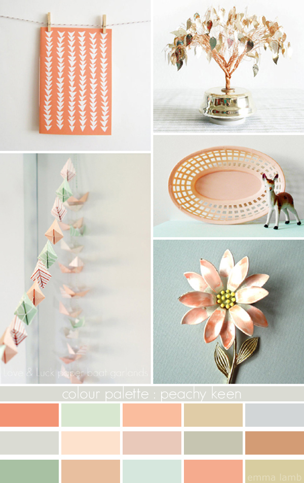colour palette : peachy keen - curated by Emma Lamb