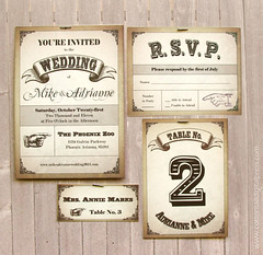 Vintage Western Poster Wedding Invitation