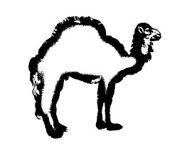 animal figure(0.0), velociraptor(0.0), silhouette(0.0), font(0.0), cartoon(0.0), line art(1.0), camel(1.0), illustration(1.0), black-and-white(1.0),