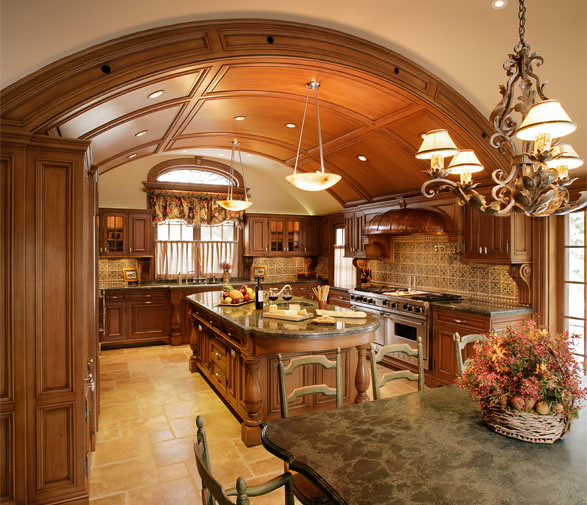 White Kitchen Vaulted Ceiling: The Kitchen, With A Barrel-vaulted Ceiling, Is Milled In
