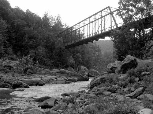 O&W Bridge - Big South Fork (black & white)