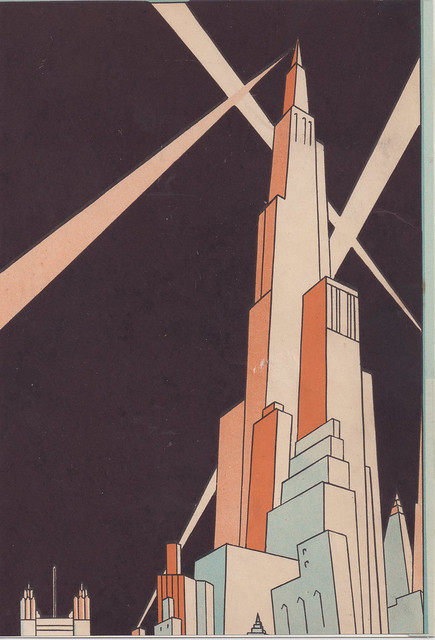 Art deco cityscape flickr photo sharing for Art deco origin