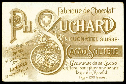French Tradecard Back - Chocolate Suchard by cigcardpix