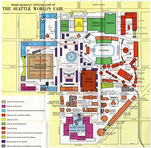 1962 Seattle World S Fair Map Rob Ketcherside Flickr