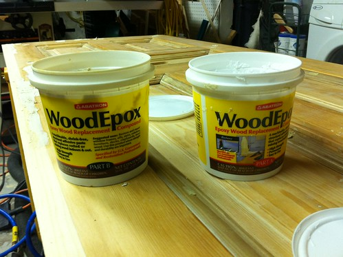 Toolbox tuesday a two part wood epoxy to fill them all for Wood floor epoxy filler