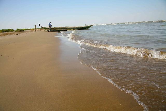 Fred investigates the possibility of alternate transport. Lake Turkana, Kenya.