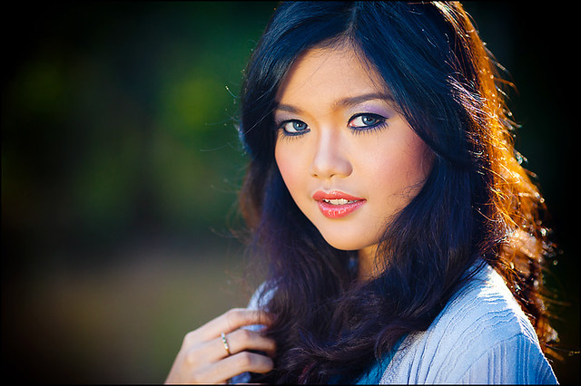 outdoor portrait with soft bokeh