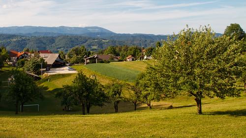village view hills slovenia slovenija geoss slivna