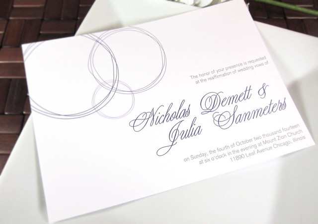 Young Baroque Wedding Invitation Response Card
