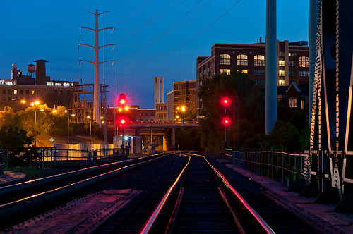 Red Tracks at Twilight #2 - Minneapolis, Minnesota