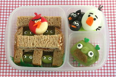 angry birds bento lunch