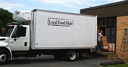 The Local Food Hub refrigerated truck and warehouse in Ivy, Virginia.
