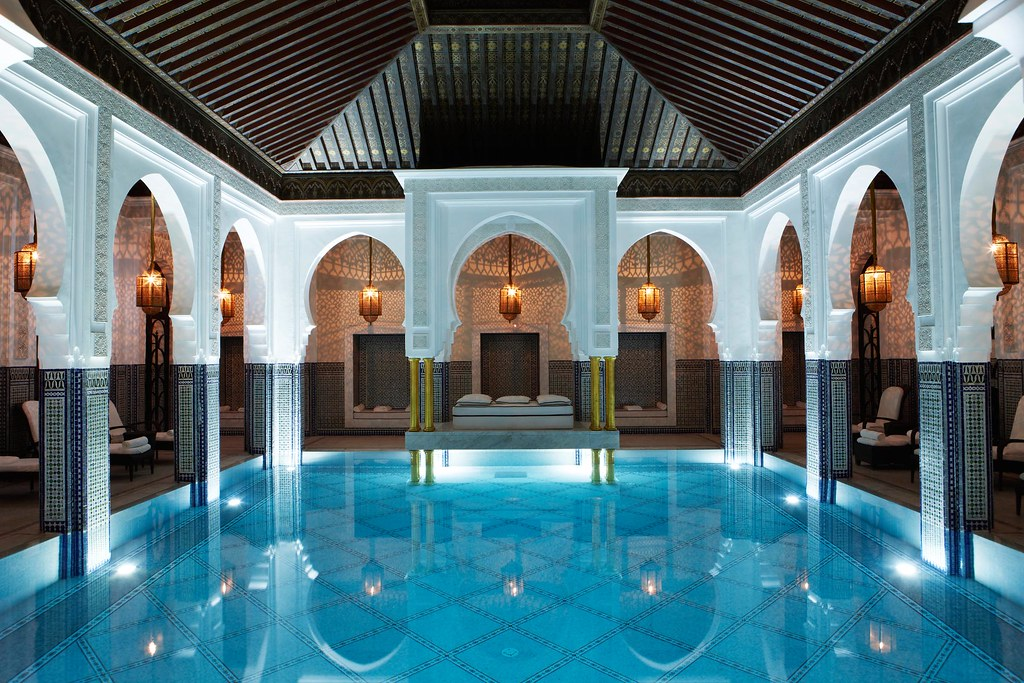 La Mamounia spa pool